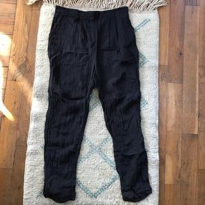 Acne Drop Crotch Crinkle Pants